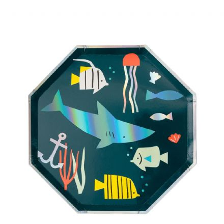 Under The Sea Party Plates, Small - pack of 8